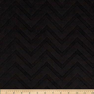 Shannon Fabrics Minky Embossed Chevron Cuddle Fabric by The Yard, Black