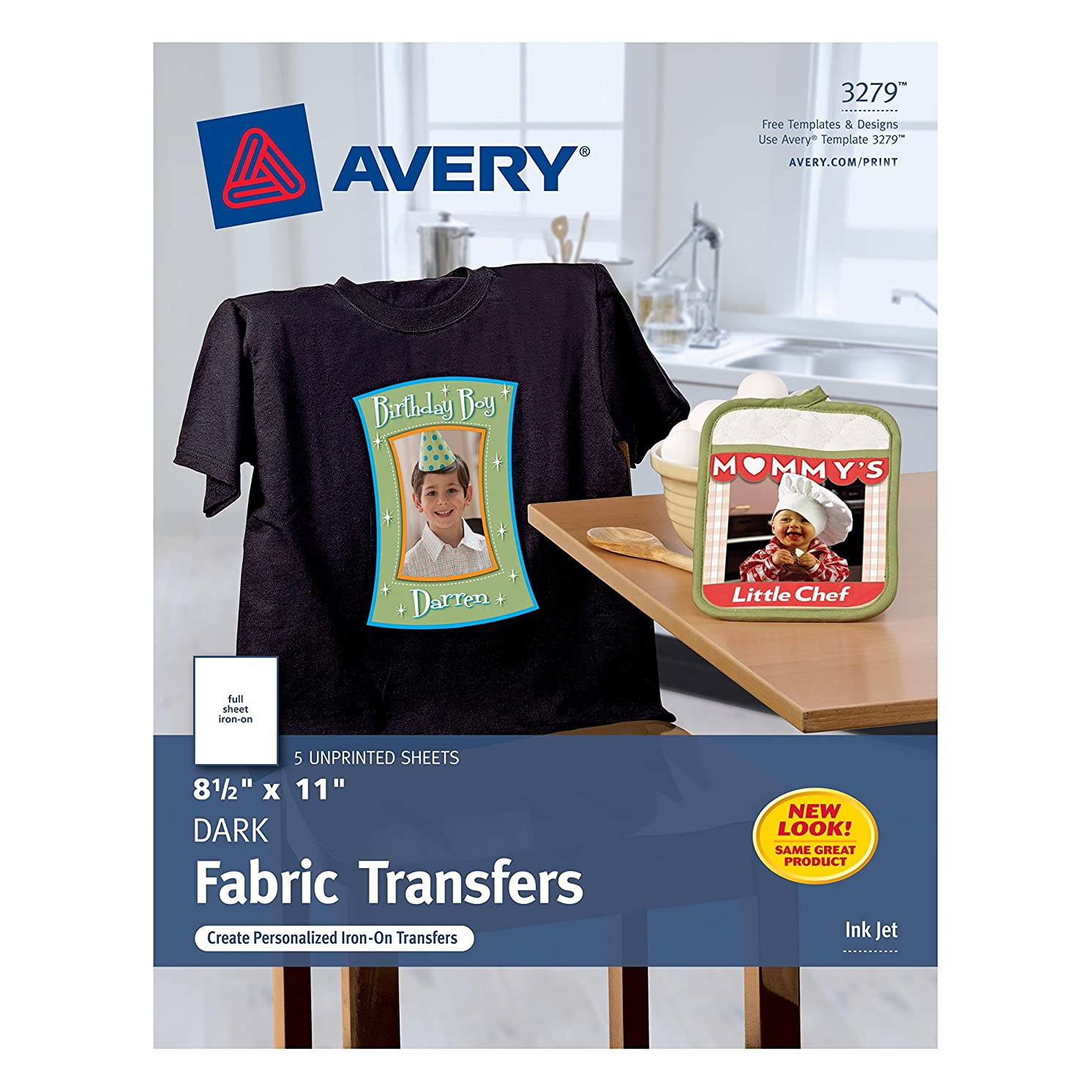 Avery Dark T-Shirt Transfers, Matte, 8-1/2