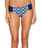 Tommy Bahama - Shibori Splash High-Waist Side-Shirred Bikini Bottom