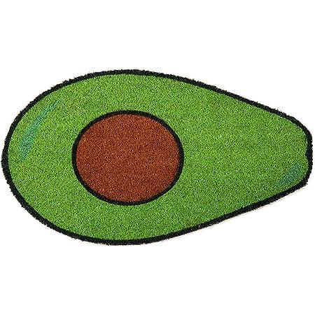 Cloudnola Fisura Coir Indoor/Outdoor Doormat Avocado, Anti Slip Backing