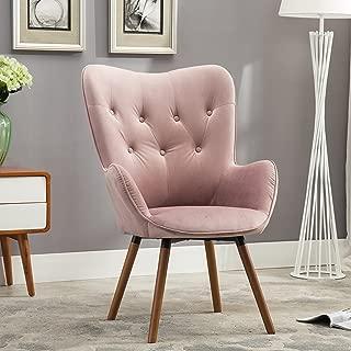 doarnin button tufted high back velvet accent chair