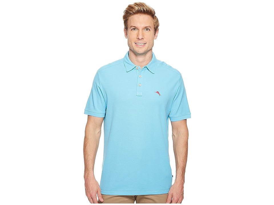 Tommy Bahama Tropicool IslandZone Pique Spectator Polo (Breeze Blue) Men