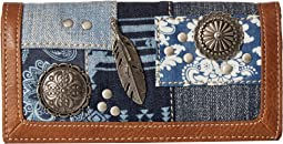 American West - Indigo Flap Wallet