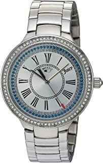 Juicy Couture Womens Analogue Quartz Watch with Stainless-Steel Strap 1901550