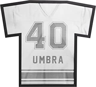 Umbra T-Frame, Unique Sports Display Case To Showcase Adult Sized Football, Baseball, Soccer or Hockey Jerseys (up to XXL), Black, Large
