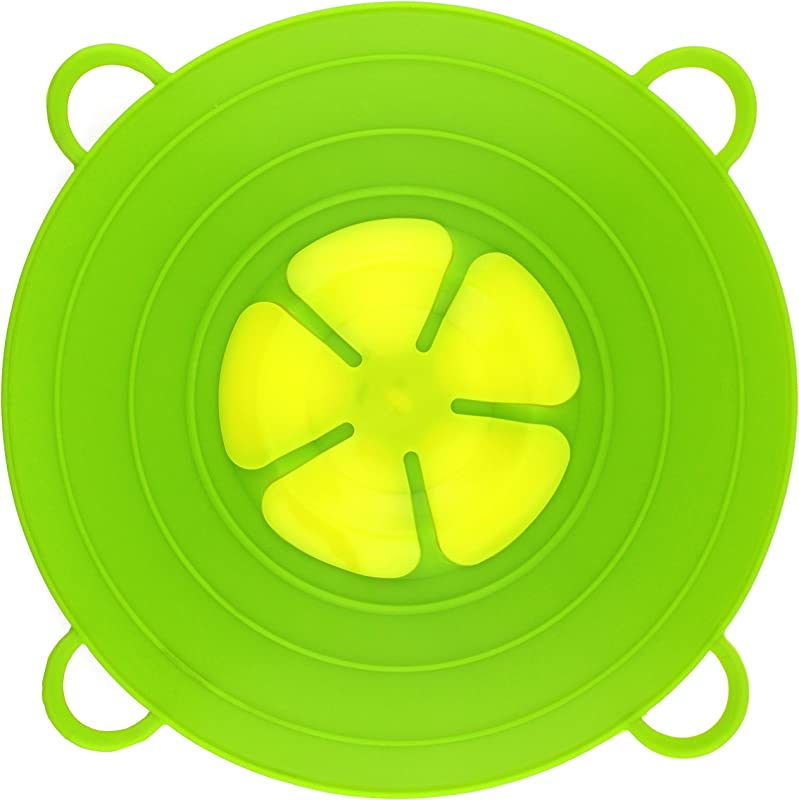 Spill Stopper Lid Pan And Pot Prevent Messy Spillovers 11 5 Inch Multifunction Silicone Kitchen Cooking Lid And Cover Crockpot Cookware Parts Flower Made Of FDA Food Grade Silicone