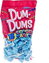 Ocean Blue Dum Dums Color Party - Cotton Candy Flavored - 75 Count Bag - 12.8 ounces - Includes Free How To Build a Candy Buffet Guide