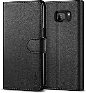Vakoo Wallet Phone Case for Samsung Galaxy S7 Edge, Premium Flip Case and PU Leather Cover for Samsung Galaxy S7 Edge (5.5 inches) Black
