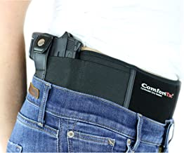 belly band holster with thumb break