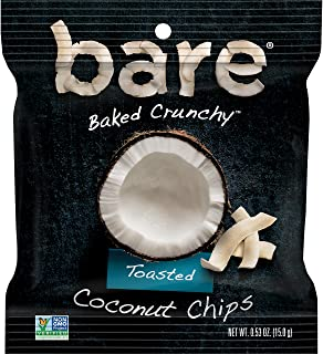 bare Baked Crunchy Coconut Fruit Snack Pack, Gluten Free Snacks, Toasted, 0.53oz (16 Count)