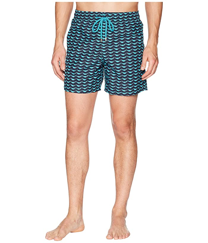 Vilebrequin Moorea Poisson Swim Trunk (Azure) Men