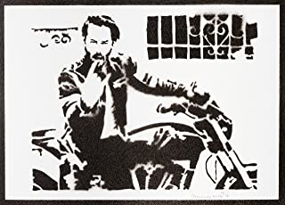 Poster John Wick Keanu Reeves Grafiti Hecho a Mano Handmade Street Art - Artwork