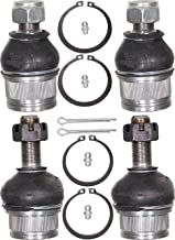 APDTY 141447 Ball Joint Set Of 4 Fits 1999-2015 Ford F250 F350 F450 Super Duty Pickup 2000-05 Excursion (4-Wheel Drive Models Only; Grease-able Design w/Zerts; Front Upper & Lower Left & Right)
