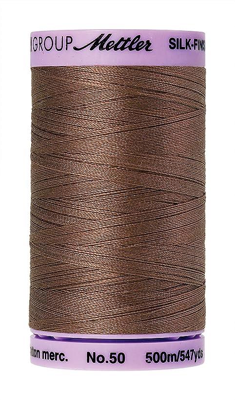 Mettler Silk-Finish Solid Cotton Thread, 547 yd/500m, Espresso