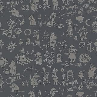 Sandudd SD5164-1 Moomin Black Novelty Wallpaper,