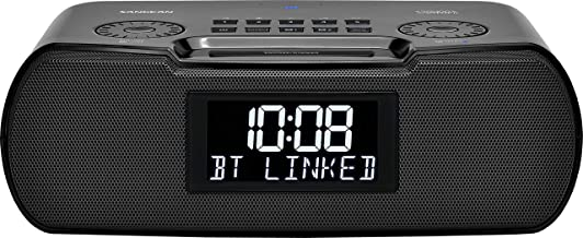 RCR-30 FM-Rbds/Am/Bluetooth/Aux-in Digital Tuning Clock Radio with USB Phone Charging and Sound Soother