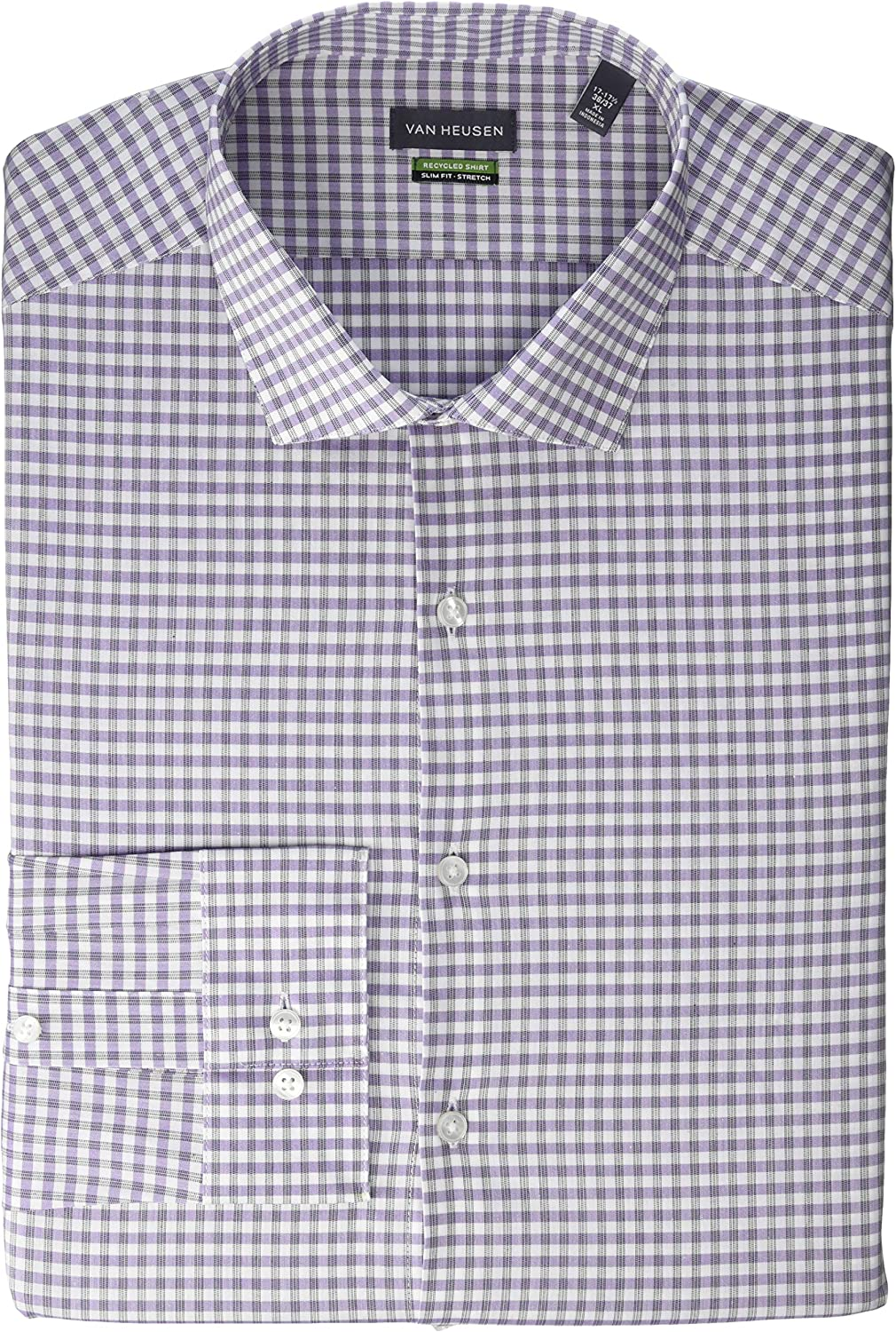 Van Heusen National uniform Super special price free shipping Men's Dress Shirt Stretch Recycled Slim Fit