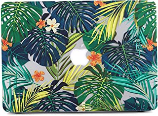 MacBook Air 13 Case, L2W Matte Print Tropical Palm Leaves Pattern Coated PC Hard Protective Case Cover for Apple MacBook Air 13 inch (Model: A1369 and A1466) - Palm Leaves & Flower G