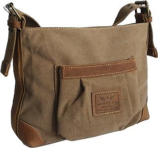 Jennifer Jones - präsentiert von ZMOKA Canvas Jeans Tasche von Harolds - kleinere Damentasche, Shopper, Umhängetasche, VintageHandtasche, Schultertasche - Baumwollstoff Segelstoff Natur - präsentiert von ZMOKA