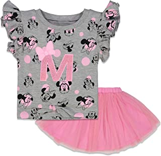 Disney Minnie Mouse Little Girls' Fashion T-Shirt & Tulle Skirt Set