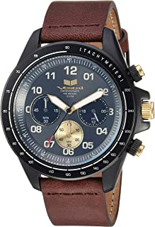 Vestal 'ZR2' Quartz Stainless Steel and Leather Casual Watch, Color:Brown (Model: ZR243L27.BR)
