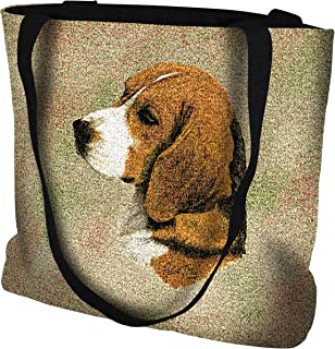 Pure Country Weavers Beagle Hand Finished Large Woven Tote or Shoulder Bag with Magnetic Clasp 100% Cotton Double Sided Made in USA