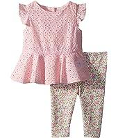 Ralph Lauren Baby Eyelet Top & Leggings Set (Infant)
