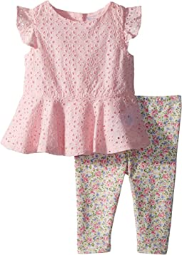 Eyelet Top & Leggings Set (Infant)