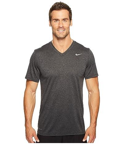 Nike Legend 2.0 Short Sleeve V-Neck Tee (Black/Anthracite/Heather/Matte Silver) Men