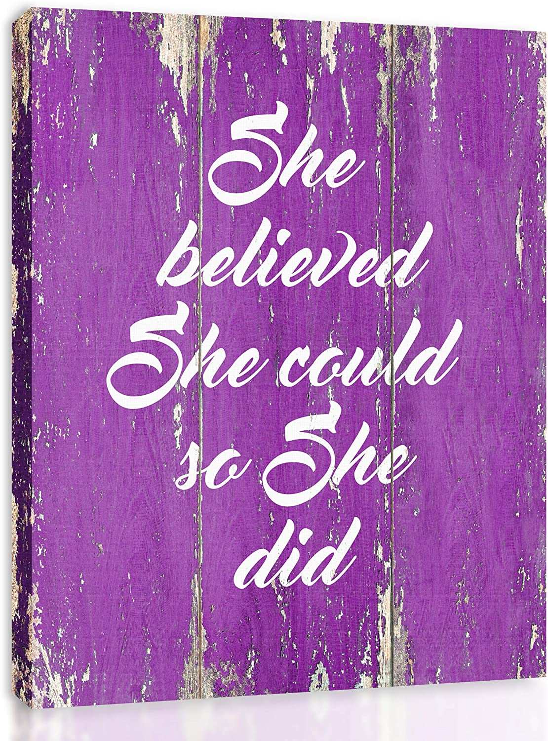 She Believed OFFer Could So Did specialty shop FRAMED Motivational Quote -