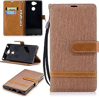 ZIBF031157 - Funda de piel sintética tipo cartera para Sony Xperia XA2 (con tarjetero), color marrón