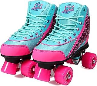 Kandy-Luscious Skates Patines para verano, color verde y rosa