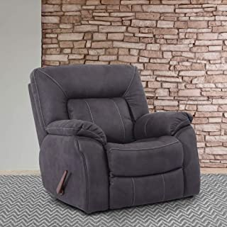 Boris Slate Glider Recliner Grey Solid Americana Casual Modern Contemporary Polyester Upholstered Wood Manual Recline