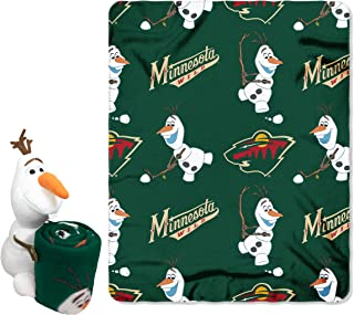 Officially Licensed NHL Co-Branded Disney's Frozen Olaf Hugger and Fleece Throw Blanket Set, 40