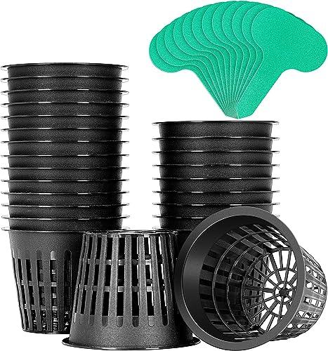 2021 VIVOSUN lowest 25 Pack 3 Inch Net Pots Heavy Duty Net Cups with 12 online Pcs Plant Labels outlet sale