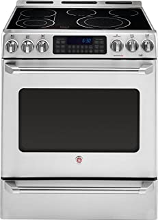 in Stainless Steel Renewed GE Profile PS960SLSS 30 Inch Slide-in Electric Range with Smoothtop Cooktop