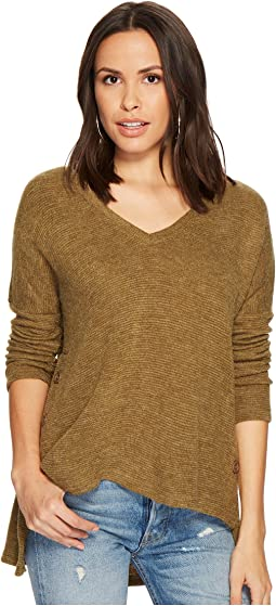 Quentin Textured Knit Side-Buttoned Top