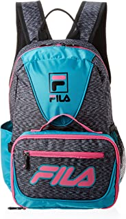 Fila Meridian Backpack & Lunch Bag Bundle for Boys & Girls Kid's Backpack, Static/Teal/Fuchsia, One Size