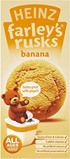 Heinz Farley`s Reduced Sugar Banana Rusks 4-6 Months Plus 150 g (Pack of 6)