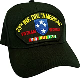 HMC US Army 23rd Infantry Division Americal Vietnam Veteran w/Service Ribbons Low Profile Adjustable Ball Cap
