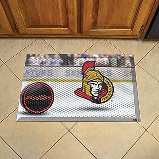 Fanmats 19162 Team Color 19 X 30 Ottawa Senators Scraper Mat (Nhl Puck)