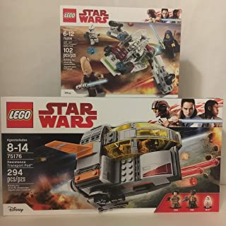 LEGO Star Wars Resistance Transport Pod & LEGO Star Wars Jedi & Clone Troopers Battle Pack