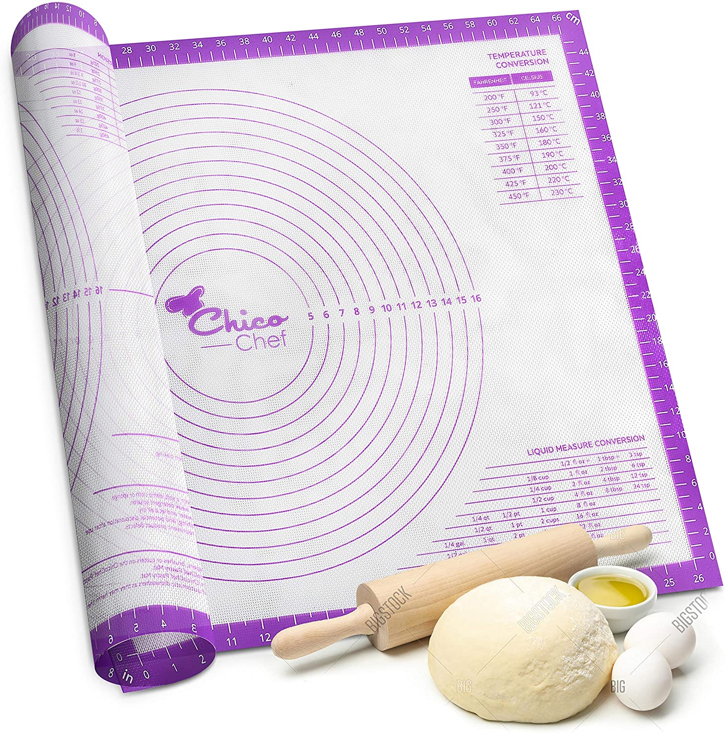 Silicone Pastry Large discharge sale Mat for Rolling Dough Extra wit Non Super special price Stick Large