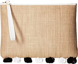 Rosalind Straw Clutch