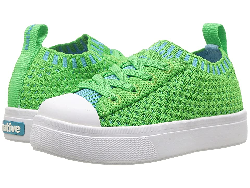 Native Kids Shoes Jefferson 2.0 Liteknit (Toddler/Little Kid) (Grasshopper Green/Shell White) Kids Shoes