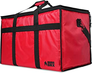 Sumo Sax Insulated Food Delivery Bag with Removable Liner - Premium Commercial Quality - Thick Thermal Insulation to Keep Food Hot or Cold – for Delivery Drivers, Catering, Tailgating, and Road Trips