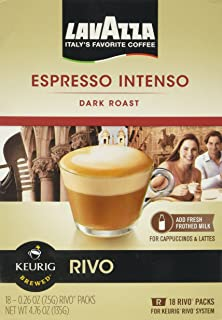 Lavazza Intenso, Espresso 18 Packs of .26oz for Keurig Rivo Systems