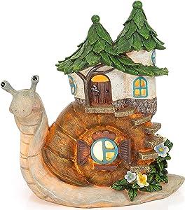 VP Home Charming Snail Cottage Solar Powered LED Outdoor Decor Garden Light