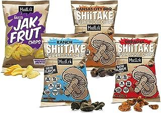 MudLrk Family Pack – Crunchy Whole Mushroom Snacks and Baked Jackfruit Chips– Non-GMO, Vegan, Gluten-Free, Plant Based Vegan Chips