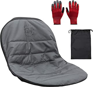 GLOBAL HIVEMIND Medium Mower Seat Cover - Heavy Duty Padded 600D Oxford Material with Waterproof PVC Coating and 4 Storage...